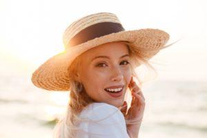 Woman with sleep apnea in Lawton in summer sun.